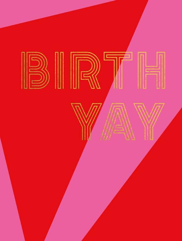 Čestitka BIRTHDAY RED PINK