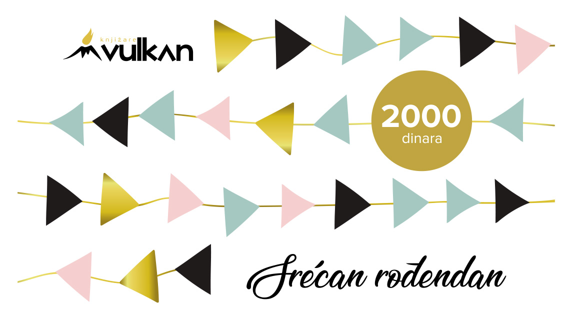 GIFT KARTICA/VAUČER Srećan rođendan White 2000