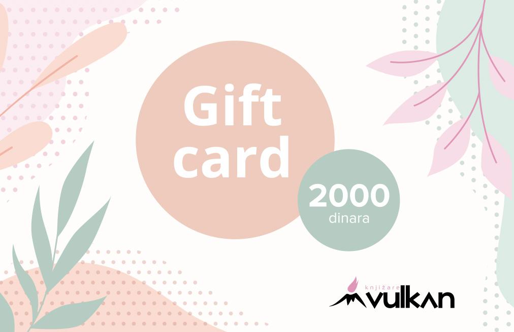 GIFT KARTICA/VAUČER White 2000