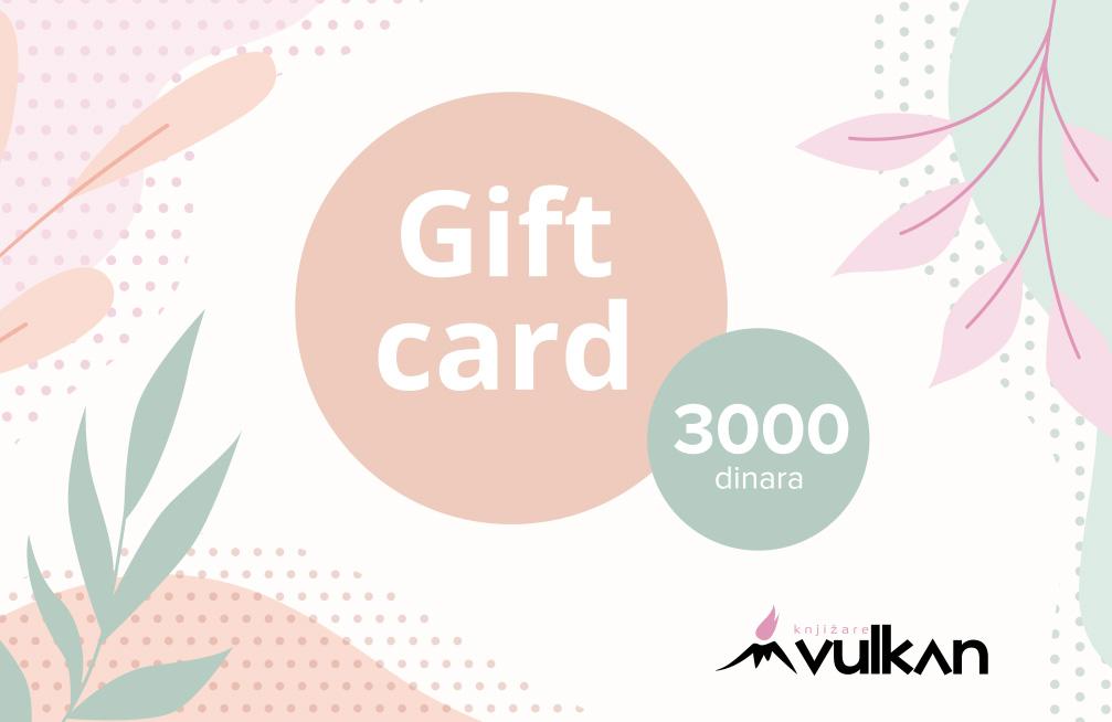 GIFT KARTICA/VAUČER White 3000
