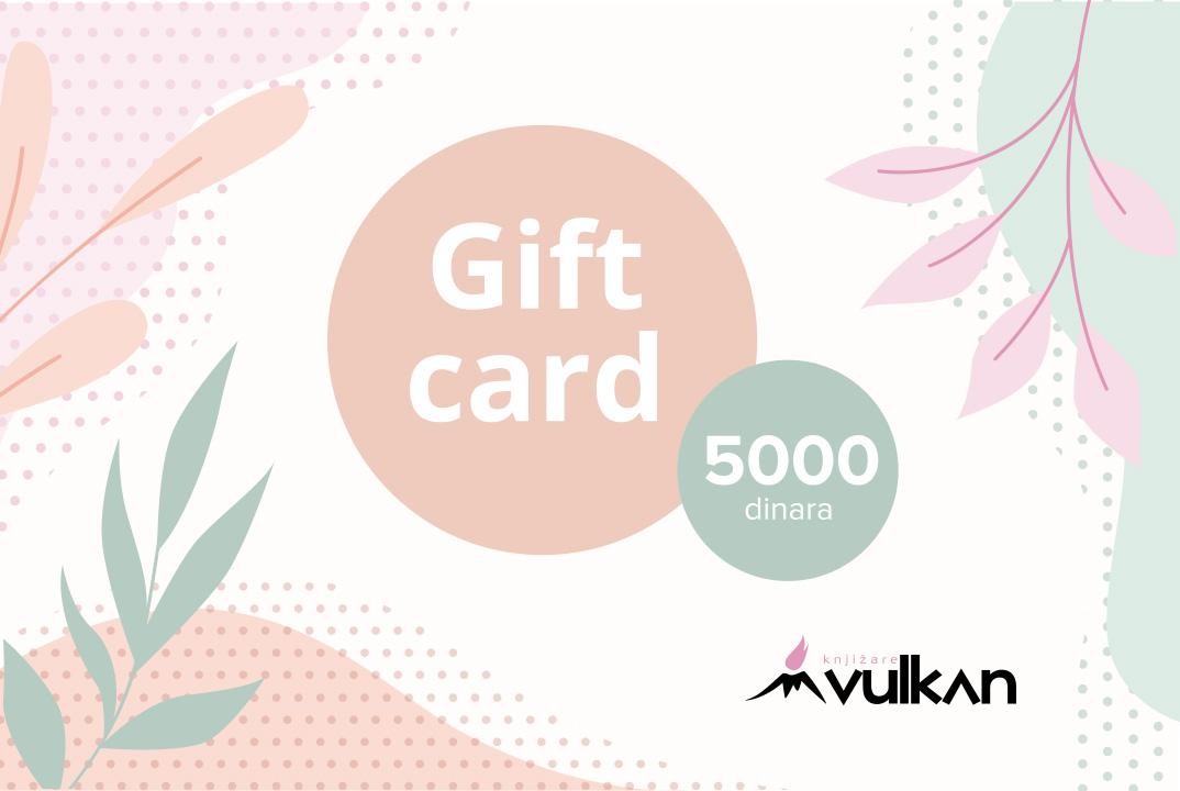 GIFT KARTICA/VAUČER White 5000
