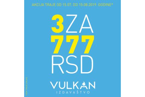 Letnja akcija - 3 knjige za 777 dinara