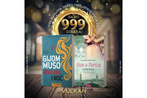 Dve knjige Gijoma Musoa za samo 999 dinara