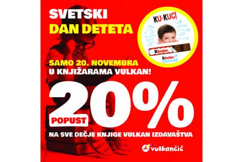 SVETSKI DAN DETETA - 20% popusta na dečje knjige Vulkan izdavaštva