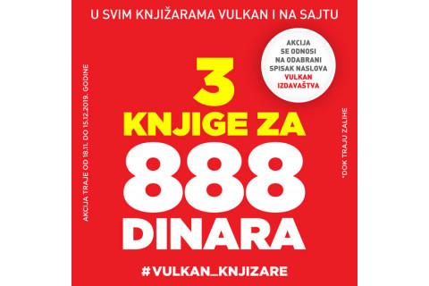 Tri knjige za samo 888dinara