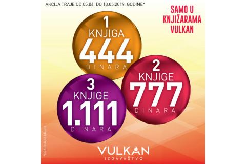 Nova akcija u Vulkanu - 1 za 444, 2 za 777, 3 za 1111 dinara