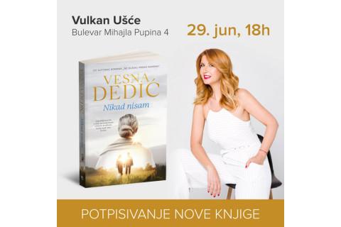 Potpisivanje nove knjige Vesne Dedić u knjižari Vulkan UŠće