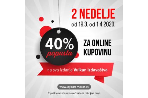 40% online popusta na Vulkanova izdanja