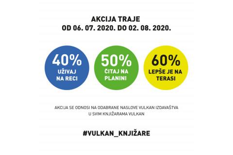 Akcija u knjižarama Vulkan - 40%, 50%, 60% popusta