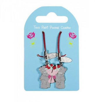 Privezak CHARM 2PT LOVE FLOWERS
