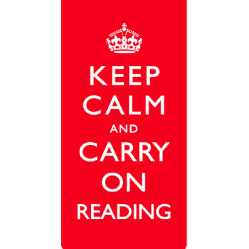 SLOGANS INT MAG BOOKM KEEP CALM AND CARRY ON READING