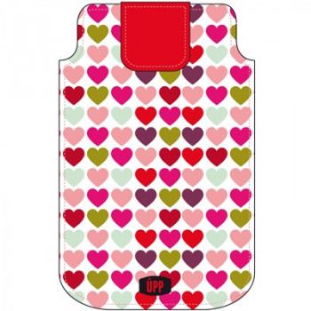 PHONE POUCH MINI HEART PATTERN