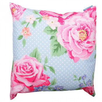 BLUE LAURA BELL CHINTZ PRINTED CUSHION COVER