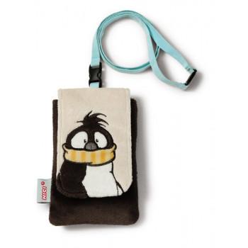 MOBILE PHONE BAG PENGUIN PLUSH 13.5X9 CM