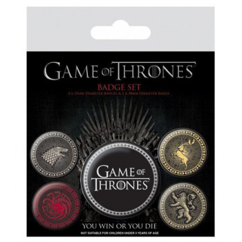 Set bedževa GAME OF THRONES