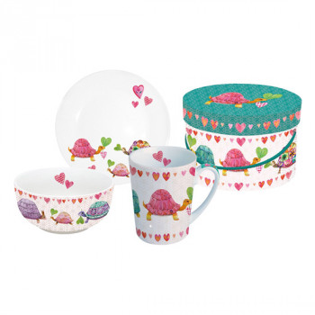BREAKFAST SET GB TURTLES IN LOVE