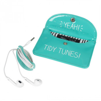 EARPHONE CASE TIDY TUNES GREEN 42023210