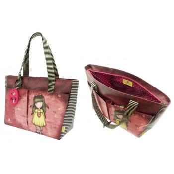 GORJUSS SHOPPER BAG WITH POCKETS HEARTFELT
