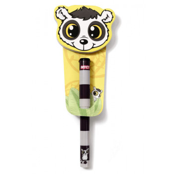 NOTEPAD LEMUR FIG SHAPED 50 SHEET W BALLPEN