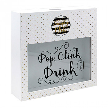 SIMPLY CHIC WINE CORK BOX