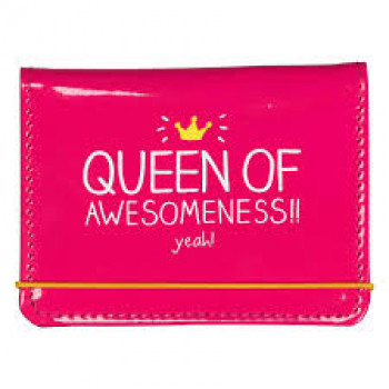 QUEEN OF AWESOMENESS CARD HOLDER