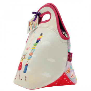 KORI KUMI NEOPRENE LUNCH BAG TEA PARTY