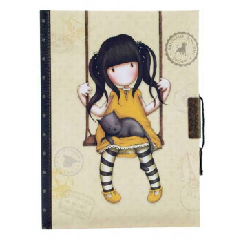 GORJUSS VACATION  LOCKABLE NOTEBOOK  RUBY YELLOW