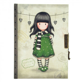 GORJUSS VACATION  LOCKABLE NOTEBOOK  THE SCARF
