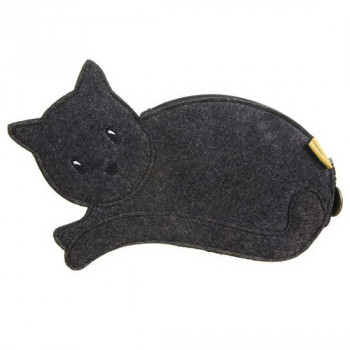 GORJUSS VACATION CAT PENCIL CASE RUBY YELLOW