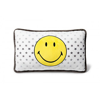 CUSHION SMILEY YELLOWSTARS RECTANGULAR 43X25CM