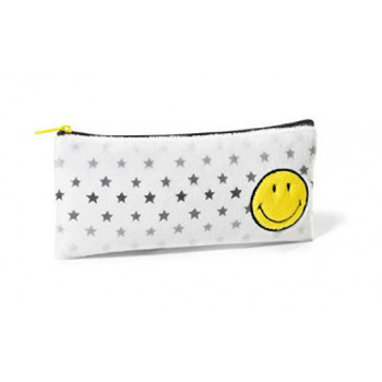 POUCH SMILEY YELLOWSTARS 21X10CM