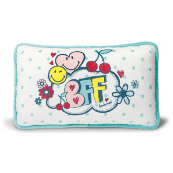 CUSHION SMILEY BFF PRINTED RECTANGULAR 43X25CM