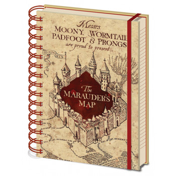 HARRY POTTER THE MARAUDERS MAP WIRO A5 NOTEBOOK