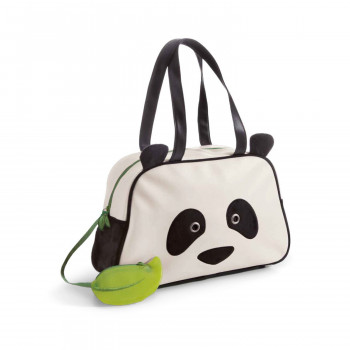 BAG PANDA IMITATION LEATHER PLUSH 39X25CM
