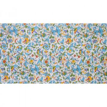 Ukrasni Papir FRUITS AND FLOWERS BLUE YELLOW FLORENTINE