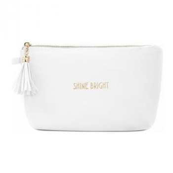 Neseser SHINE BRIGHT COSMETIC BAG WHT