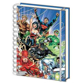 Notes sa spiralom A5 JUSTICE LEAGUE United