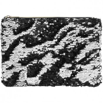 Neseser SEQUIN CLUTCH SILVER & BLACK
