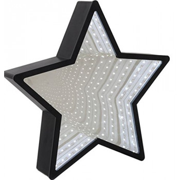 Ogledalo INFINITY MIRROR STAR BLK LED