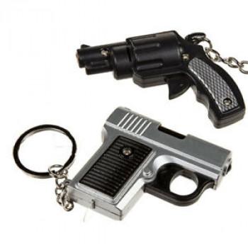 Privezak za Ključ PLASTIC GUN WITH SOUND LED (INCL BATTERIES)