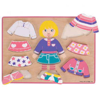 Puzzle DRESSING GIRL PUZZLE