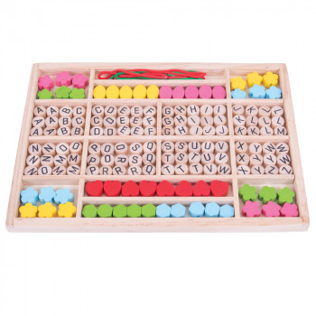 Kreativni Set ALPHABET BEAD TRAY