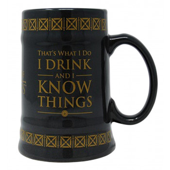 Keramička krigla GAME OF THRONES I DRINK AND KNOW THINGS