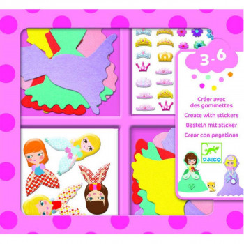 Kreativni Set STICKERS I LOVE PRINCESSES