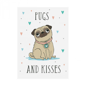 Kuhinjska krpa PUGS AND KISSES