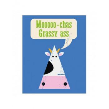 Čestitka LB10 MOOOOOCHAS GRASSY ASS