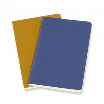 AMPHORA MOLESKINE Beležnica FORGET ME NOT BLUE, AMBER YELLOW