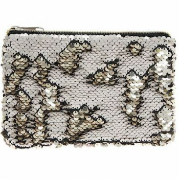 Neseser SEQUIN PURSE CHAMP & CREAM