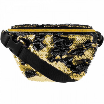 Torbica SEQUIN BLACK & GOLD