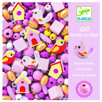 OH LES PERLES WOODEN BEADS, BIRDS